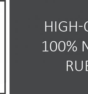 100% gomma naturale